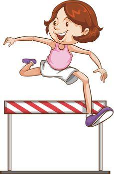 A hurdling athletics character