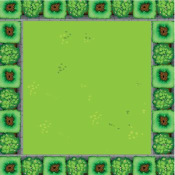 A green garden border