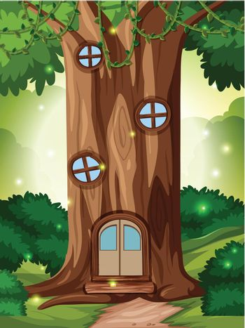 A fairy take house in forest