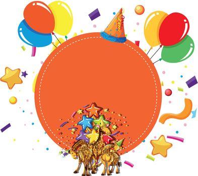 giraffes party celebration concept