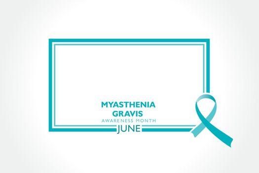 Vector illustration of Myasthenia Gravis Awareness Month observed in June.