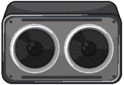 Speaker or radio isolated on white background illustration
