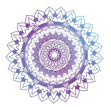 Mandala patterns on white background