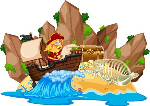 Pirate discover the island
