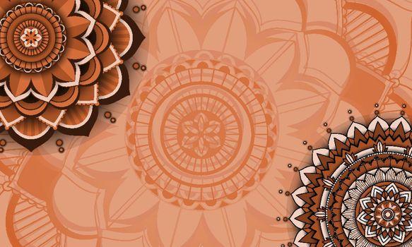 Beautiful colour mandala background illustration