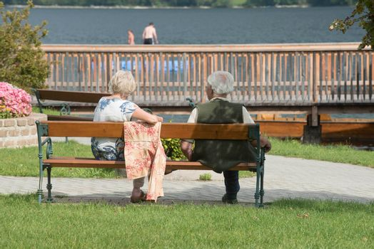 married couple in old age, people in love and together after many years