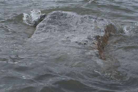rapid in a river section, where water velocity and turbulence increase