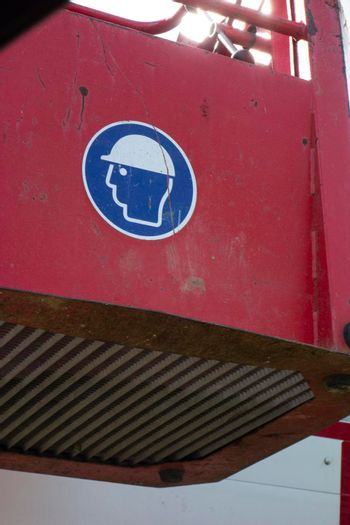 safety helmet as a protective measure for the head at work
