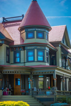 Cape Cod Marthas Vineyard, MA, USA - Sept 4, 2018: A classic and beautiful The Titvlvs Gloriosvs Home