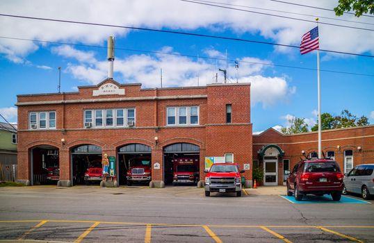 Bar Harbor, ME, USA - August 19, 2018: The BHFD fire department