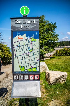 Bar Harbor, ME, USA - August 19, 2018: The Bar Island Path Trialhead
