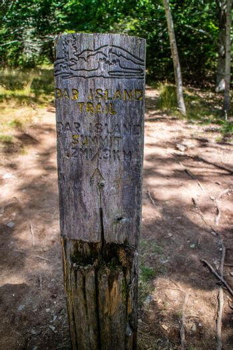 Bar Harbor, ME, USA - August 19, 2018: The Bar Island Trailhead and Summit
