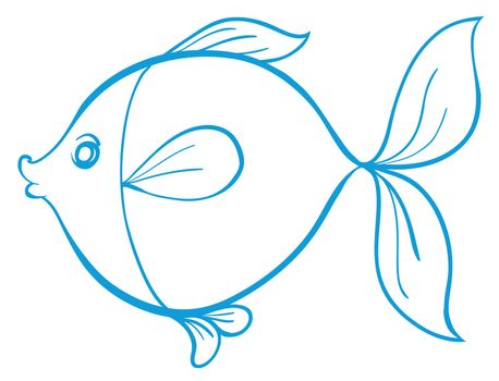 detailed illustration of a fish outline