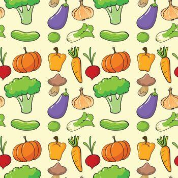 illustration of a vegetables on white background