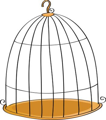 illustration of cage in a white background
