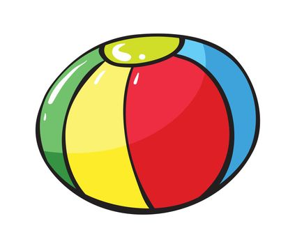 illustration of a colorful ball on a white background