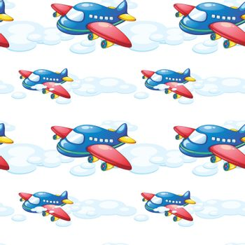 illustration of an airplane on a white background