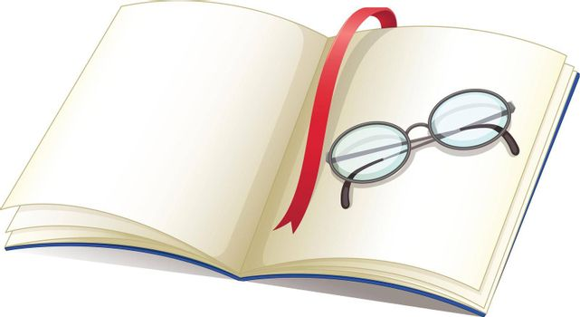 Illustration of book and glasses