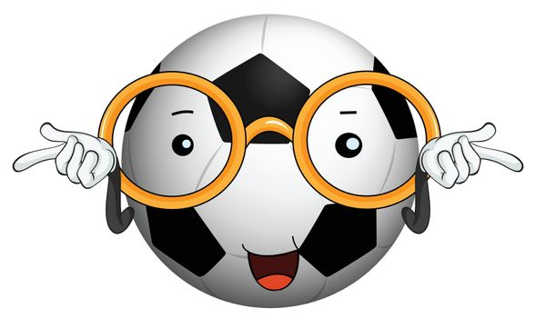 illustration of a football on a white background