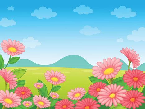 Illustration of an empty flower background