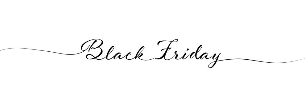 BLACK FRIDAY calligraphy lettering for posters, banners, postcards, and creative design. Simple Style