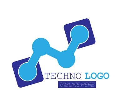 Techno logo. High-tech and innovative business. Simple vector illustration isolated on a white background