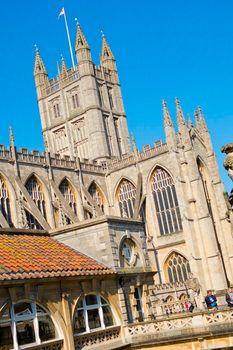 Roman Baths and Bath Abbey, Bath, Great Britain