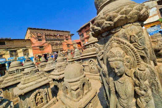 Buddhist Sculpture, Swayambhunath Temple, Kathmandu, Nepal