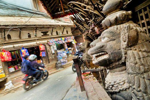 Street Temple, Kathmandu, Nepal