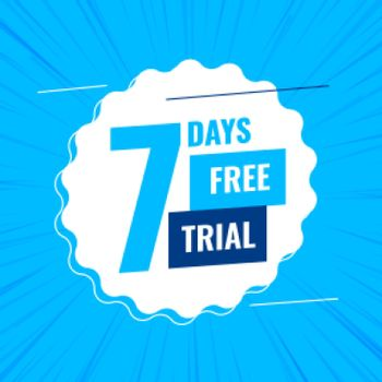 7 days or a week free trial background
