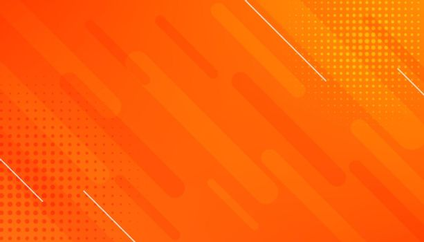 abstract orange background with lines and halftone effect