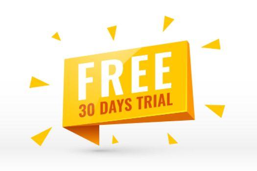 free 30 days trial background design