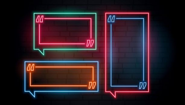 neon frame quotation boxes pack