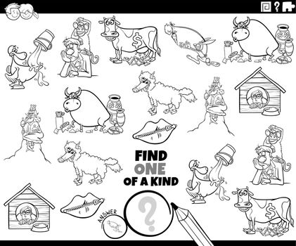 one of a kind game with cartoon sayings coloring book page