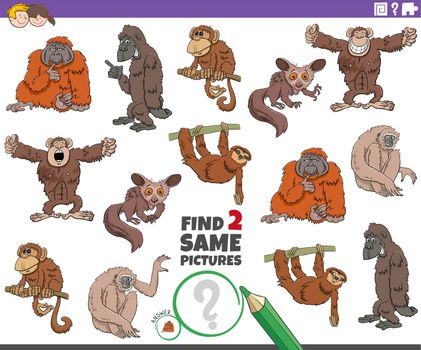 find two same cartoon animals educational game