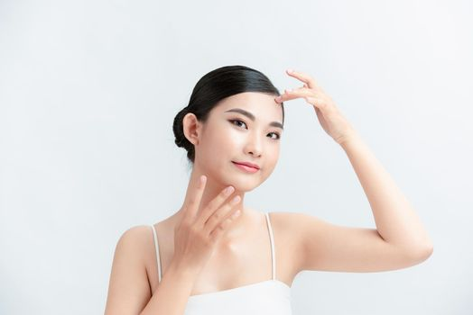 Perfection, Spa girl beautiful portrait, fresh healthy skin, rejuvenation and treatment