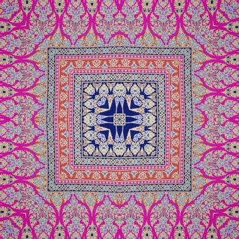Colorful abstract kaleidoscope or endless pattern