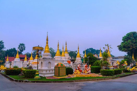 Twenty pagodas temple is a Buddhist temple in Lampang province, Thailand