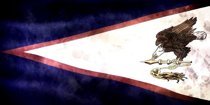 American Samoa flag - realistic waving fabric flag