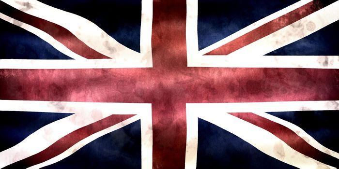United Kingdom flag - realistic waving fabric flag