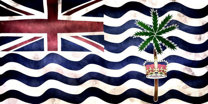 3D-Illustration of a British Indian Ocean Territory flag - realistic waving fabric flag