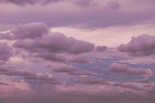 Beautiful sky background with tiny clouds. The softness of the cloud creates a feeling of relaxation.