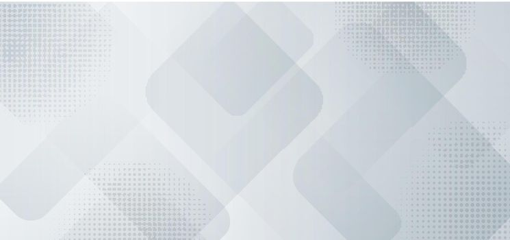 Abstract banner web template design background white and gray squares layered with halftone