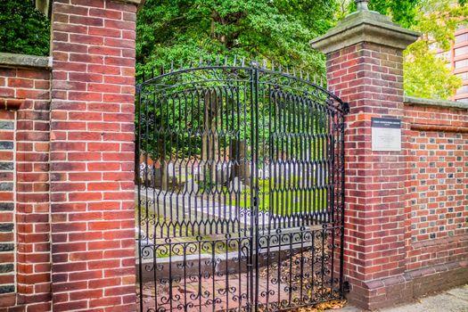 Pennsylvania, PA, USA - Sept 22, 2018: The Christ Church Burial Ground