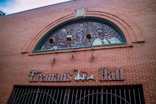 Pennsylvania, PA, USA - Sept 22, 2018: The preservation of Philly Fireman Hall Museum