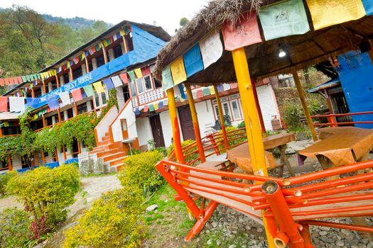 Rest Area, Trek to Annapurna Base Camp, Himalaya, Nepal