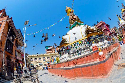 Buddhist Stupa, Thamel Tourist Area, Kathmandu, Nepal