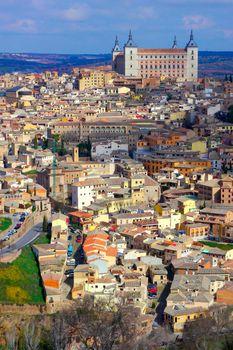 Cityview and Alcazar, Toledo, Spain