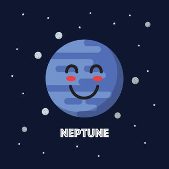 Smiling neptune character emoticon