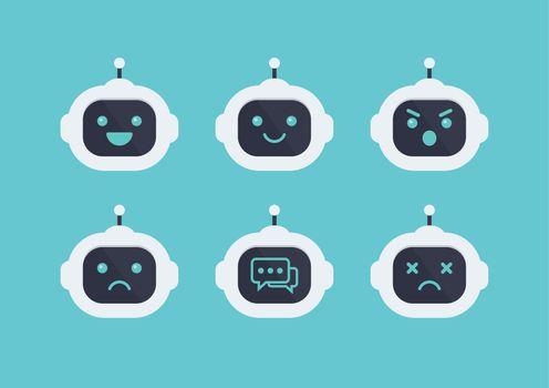 Robot head avatar emotion set